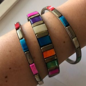 Multi color bangle set